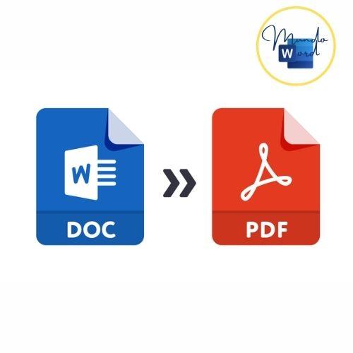 como convertir word a pdf